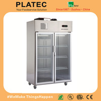 Stainless Steel Upright Deep Freezer/Commercial Fridge Freezers/Industrial Refrigerator Freezer