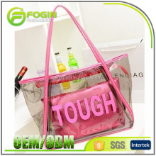 wholesale transparent pvc handbag clear tote bag