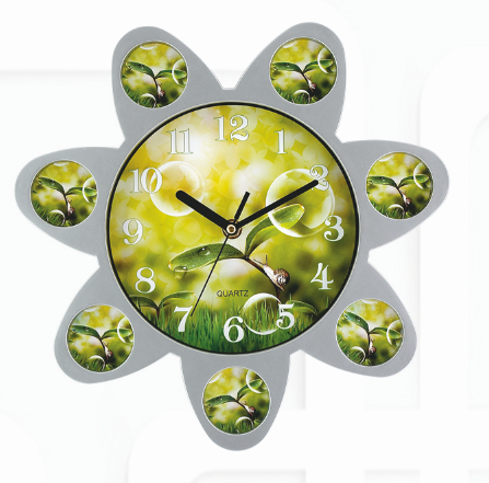 digital photo frame wall clock for living room