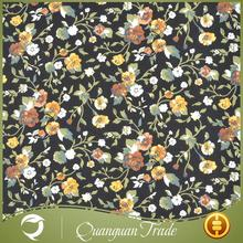 Popular knitted garment custom printed flower cotton fabric