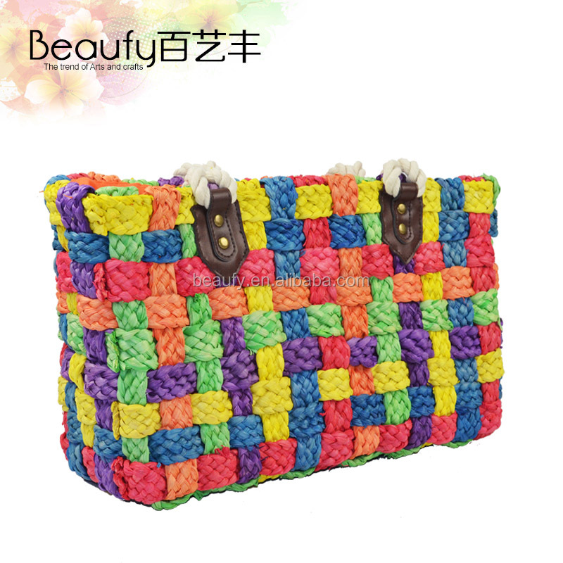best selling cute cheap much colours wholesale straw beach bags
