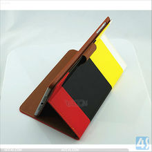 rainbow color design PU Wallet Pattern Leather Case with Stand for iPad Mini P-iPDMINICASE116