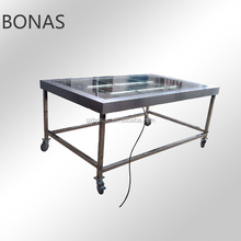 Steel fabrication work table, work prep table, stainless steel mobile work table