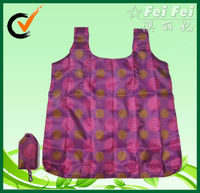 Foldable 190T polyester shopping bag