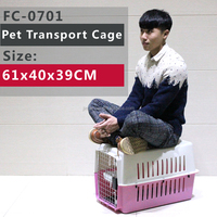 Plastic Pet Carrier Transporter Basket 5 Colours To Choose From, Mostly apply to Puppy size