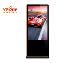55 inch in store video advertising, advertising screens with cameras, touch screen digital totem kiosk
