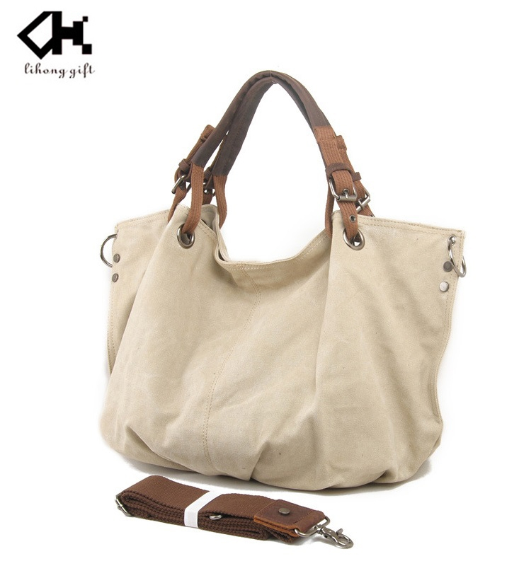 Fashion designer washed canvas bag canvas tote bag for women ladies
