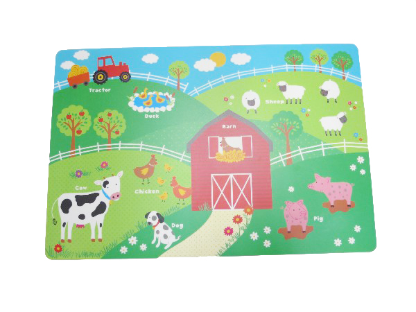Quality Guarantee Rectangular Educational PP Placemat for Kids