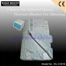 3 zones far infrared sauna thermal blanket slimming body wrap blanket