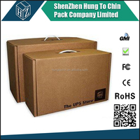 Dongguan factory corrugated paper custome cardboard carrier
