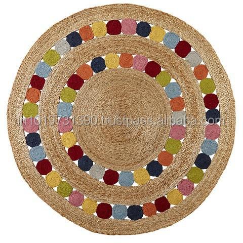 Yute alfombras de c amo trenzado alfombra identificaci n - Alfombras de canamo ...