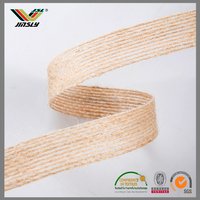China supplier custom fiber wholesale burlap expressions ribbon