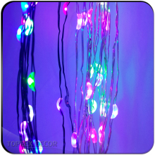 Multicolor remote control Christmas led copper wire decorative outfit string lights led light chain