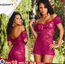 Plus Size Hot Style Sex Lace Midnight Sexy Nightgown Hot Style Sexy Lingerie