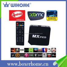 Cool Style 1gb ram 8gb rom s805 quad core smart tv android 4.4 box logo supported russian channels
