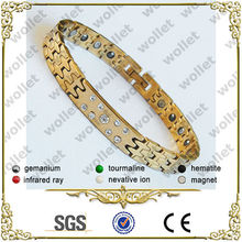 2014 new products fashionable magnetic new designs man tungsten bracelet gold