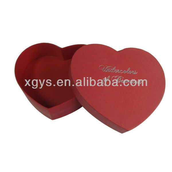 Heart Shape Paper Gift Box (XG-GB-040)