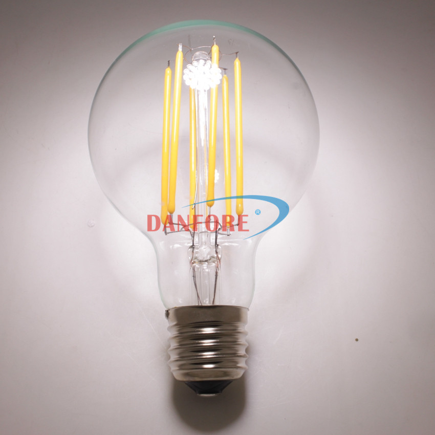 120V 230V DC12V G82 G25 LED Filament light lamp with long chip 4W 6W 8W 10w