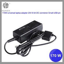 170W Brand new laptop notebook ac adapter charger 20V 8.5A with DC connector USB pin rosh CE FCC