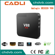 Manufacturer Supplier v88 4k android 6.1 for home use 4K full HD KODI TV BOX