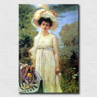 Oil painting reproduction beautiful woman picture for bedroom wall decoration