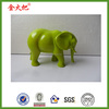 Wholesale personal resin green elephant sculpture for family gifts