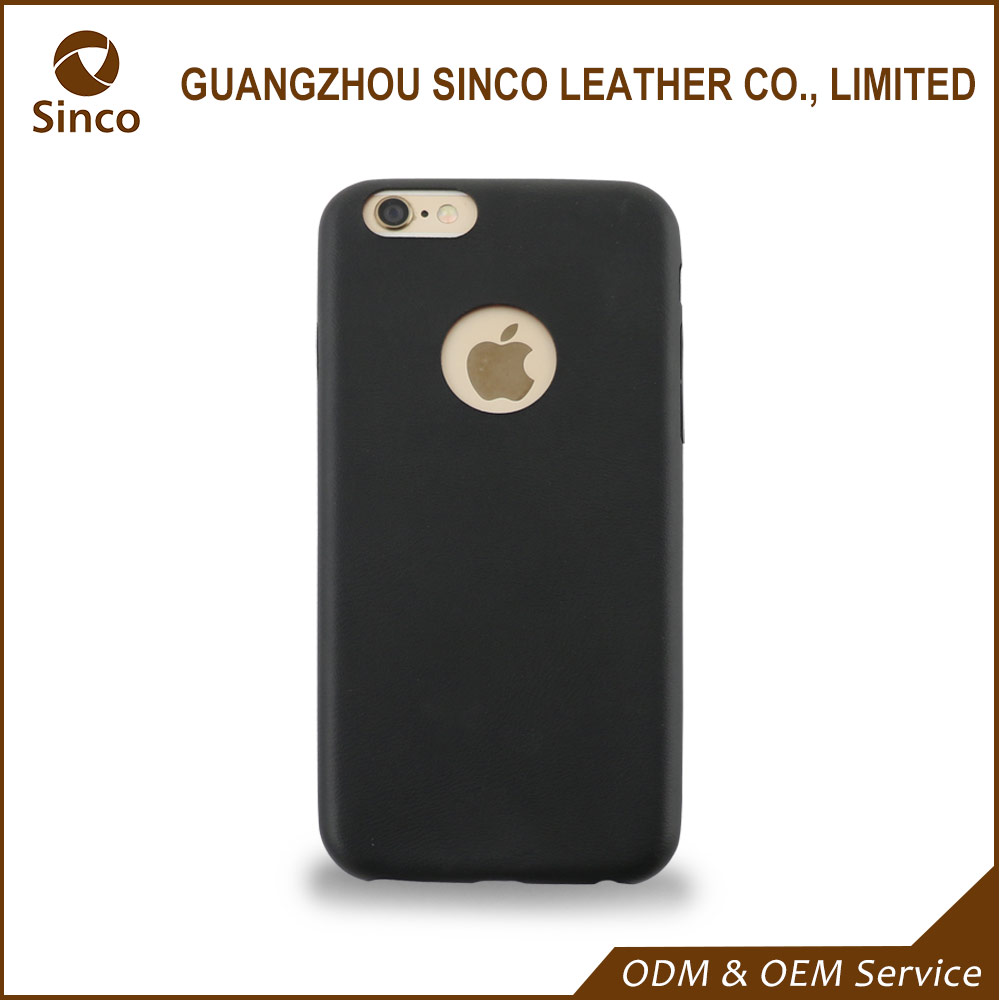 wholesale premuim pu leather back case for iphone 6 with microfiber lining