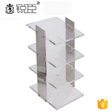 Optical shop 4 tier acrylic clear display stand customized sunglass display rack shop