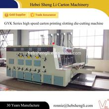Factory price corrugated machine vertical large roller printing& slotting carton package manufacturing machine