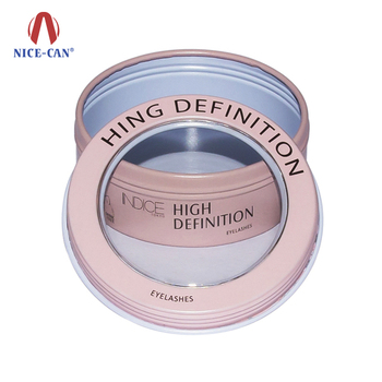 Nice-can Small Round Metal Tin Boxes For Eyelashes Packing Custom Cosmetic Tin Cans Container