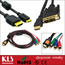 Good quality vga svga to s-video 3 rca tv av converter cable a UL CE ROHS 323 KLS