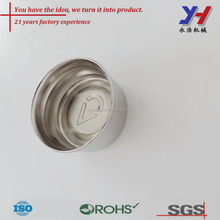 Custom high-end screw metal lid stainless steel beverage bottle cap