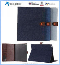 Jean Style PU Leather Full Body Case With Wallet and Card Slot and Stand for iPad Air 2