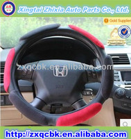 MOQ 50pcs Suede fabric car design your steering wheel cover