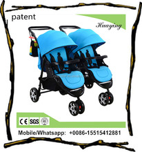 most popular factory supplier twin kid prams / double seats infant stroller / 600D Oxford fabric baby trailers