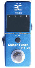 Hot Mini ENO PT-21 Pedal Tuner True Bypass Guitar Effect Pedal Blue color