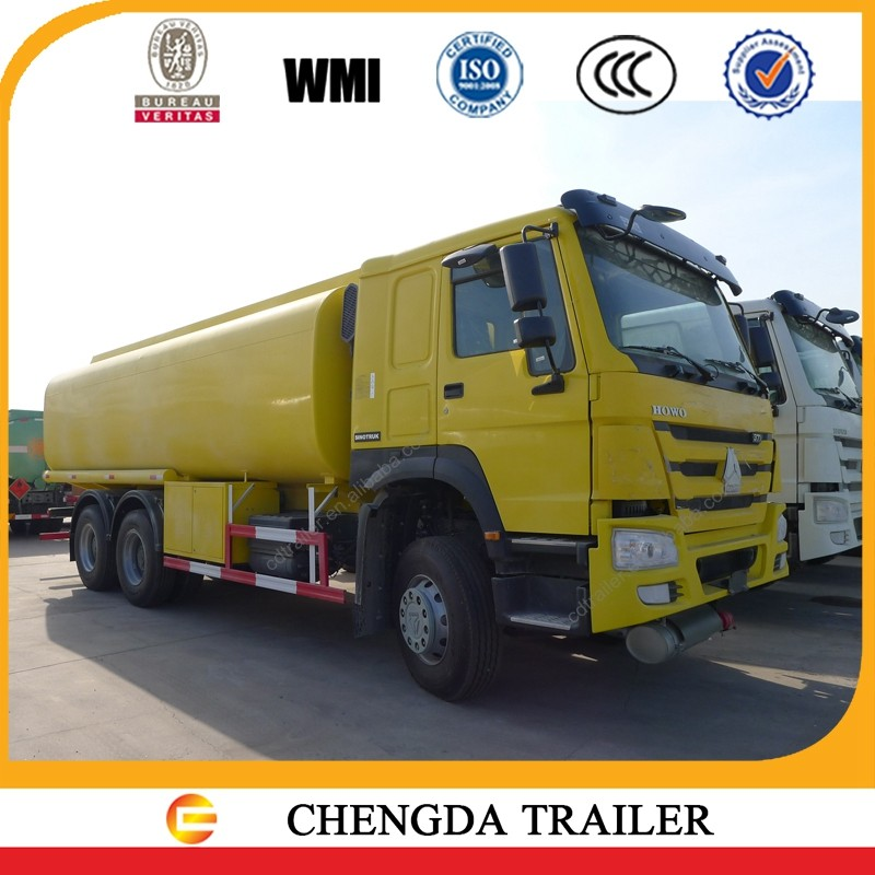 fuel desiel gasoline transportation used fuel tank trucks with HOWO truck chassis