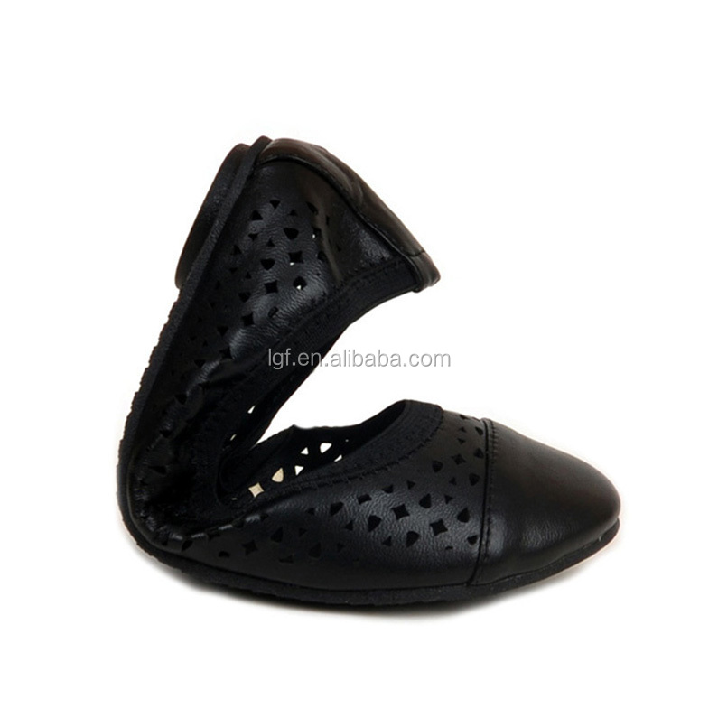 Huidong factory European flat ballet shoes high quatily casual lady dress shoe flats