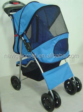 Dog Soft Stroller with large storage basket