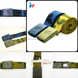 custom military belt cotton men belt with high quality buckle