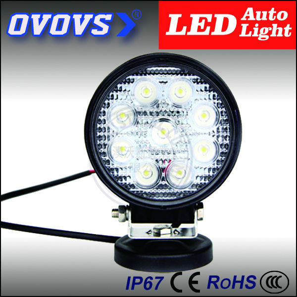 OVOVS car led lighting spot beam 4 inch 27w led work light truck with CE certificate