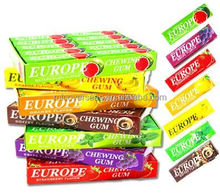 wholesale Hot Sell Fruity&Mint Flavors 5 sticks Europe Chewing gum