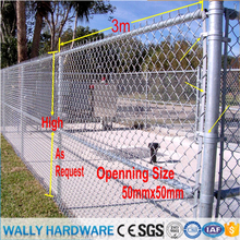 High Quality China factory competitive price hot dipped galvanized Chain Link Fence /Garden Fence/ PVC Coated Diamond Fence