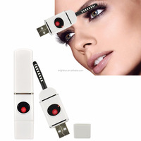 top selling wholesale price plastic handle usb mini electric heated eyelash curler