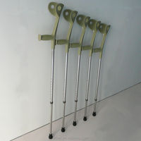 Light-weight Adjustabled Aluminium alloy medical walking elbow crutch