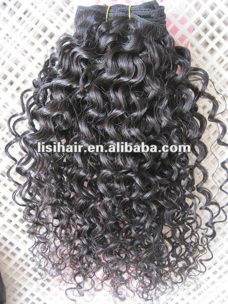 Virgin remy italian curl hair weaves
