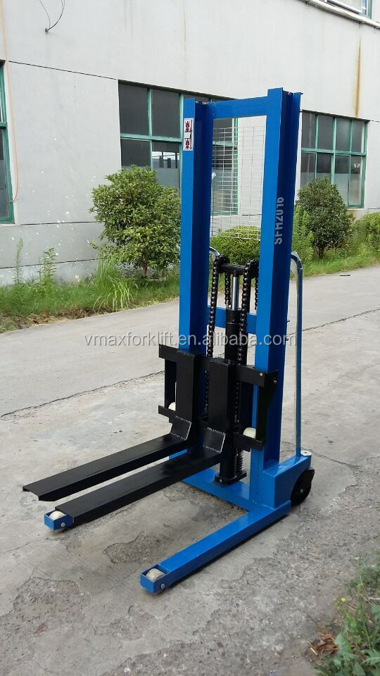 hand operated forklift /1Ton Hand Hydraulic Stacker/stacker for sale