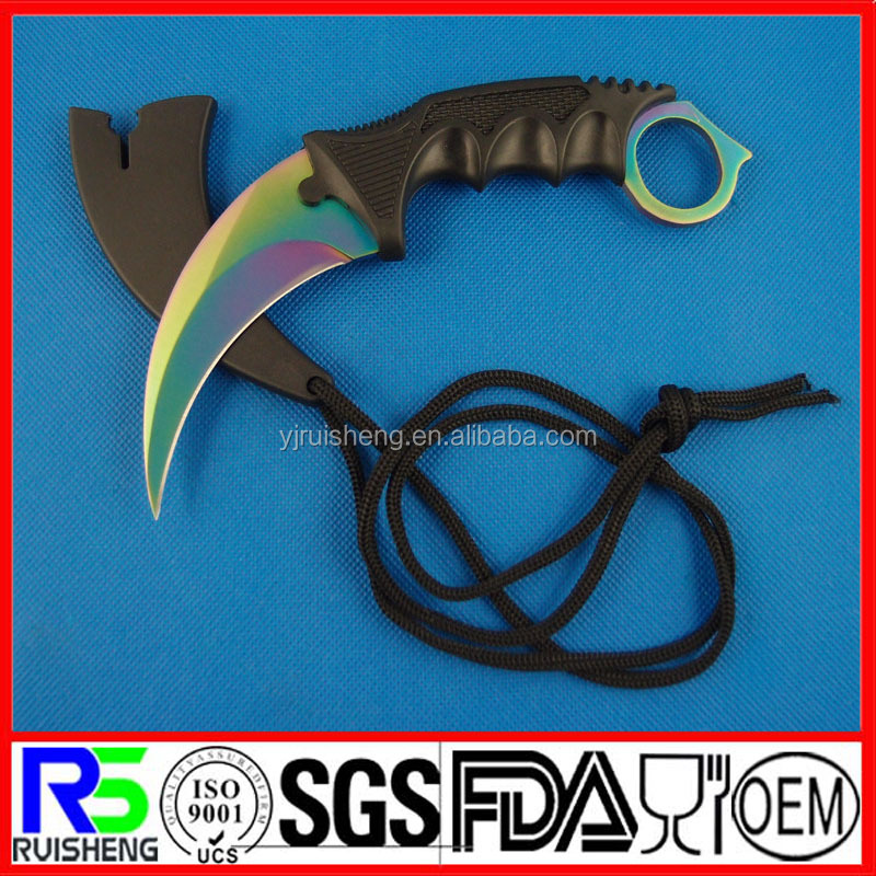 High Quality Best selling Plastic handles jungle machete knife