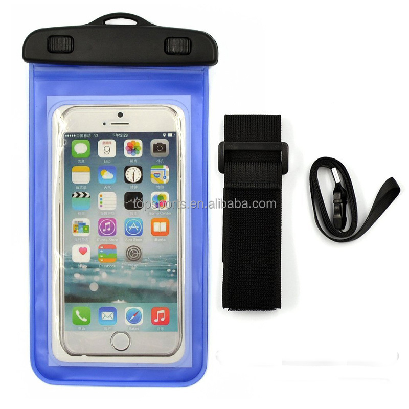 PVC dry mobile phone bag waterproof cellphone bag with armband
