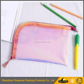 Custom Waterproof vinyl students pencil pouch pvc plastic pencil bags cute pencil bag